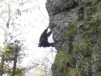 Climbing in the cliff calabria