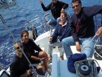 Foto di gruppo in barca