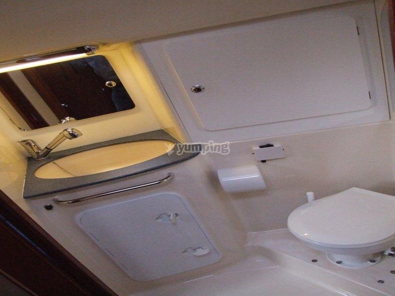 wc a bordo con doccia