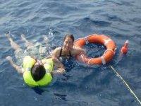 Recupero di uomo a mare