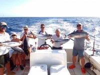 Una giornata proficua di pesca