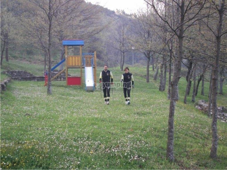 Esercizi Nordic Walking