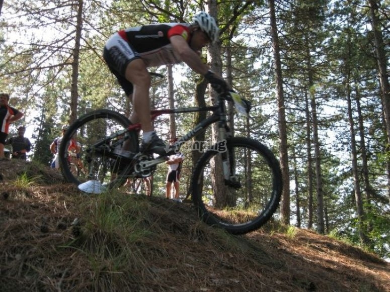 Pollino in mountain bike
