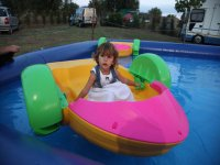 Provando i giochi acquatici