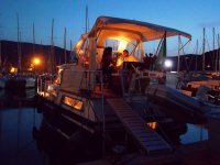 Cena romantica in porto