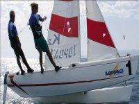 Lezioni di vela al lago