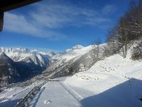 Snowshoeing at the foot of Mont Blanc