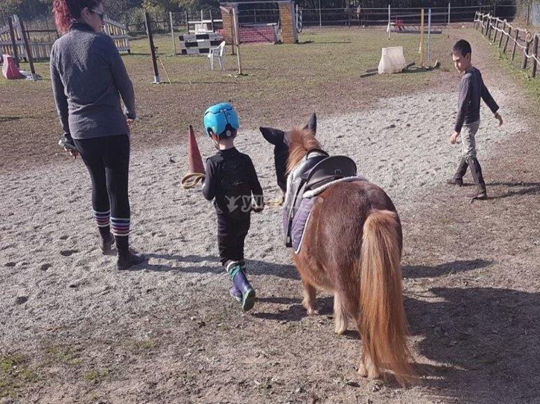 Un bimbo pronto a cavalcare il Pony