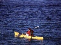 In canoa sul lago di Como