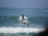 Paddle surf in mare