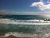 Onde sulla spiaggia