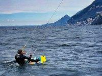 Kitesurfer sul Lago di Garda