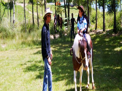 Horse riding course for children + free walk