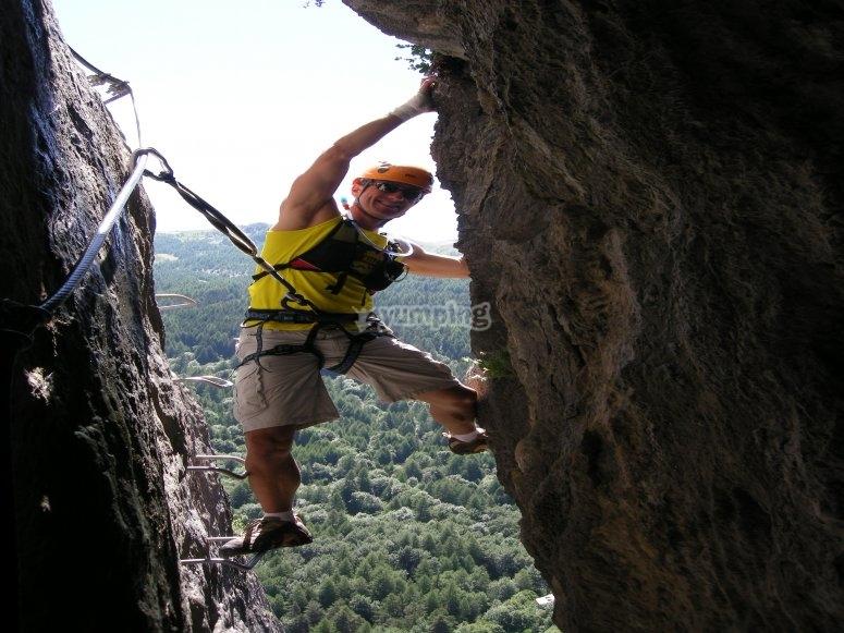 via ferrata in canyon Valsusa