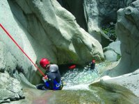 Canyoning descent of the Chalamy