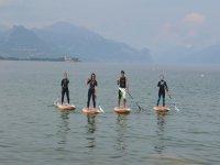 In paddle sul lago di Molveno