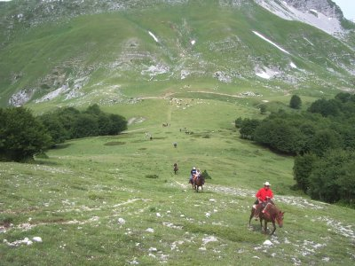 3 days on horseback in the N.d'Abruzzo Park