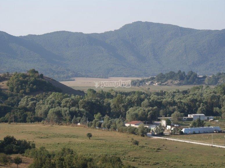 Il panorama sul parco nazionale d Abruzzo
