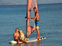 Con il windsurf in compagnia