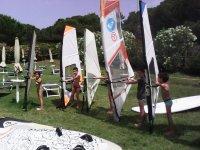 I bambini nell avventura del windsurf