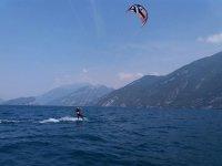 In acqua sul kite