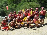 Canoeing on the Lao river