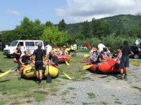 Lezioni di rafting a terra
