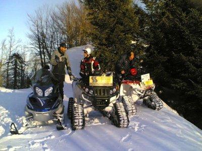 Escursione in quad invernale Piane di Mocogno