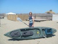 Pesca a traina in kayak