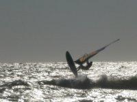 Windsurfing al tramonto