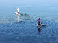 In mare con il paddle