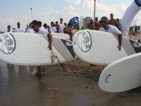 Paddle surf con mare calmo