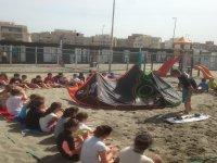 lezioni di kite a terra