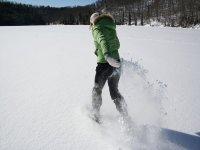 Schizziamo la neve con le ciaspole!