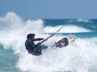Kitesurfing in Punta Saline