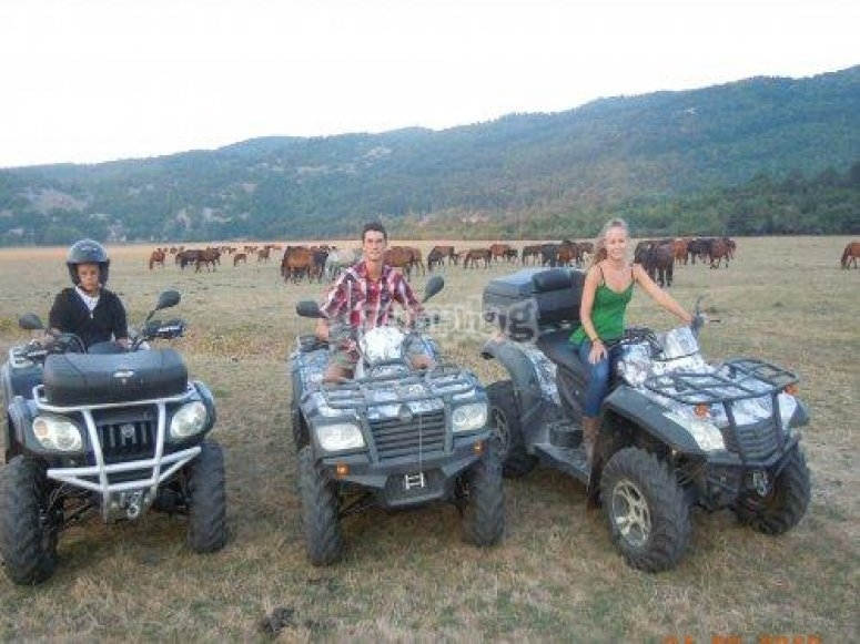 In quad nella valle del Rodeo parco Nazionale d'Abruzzo