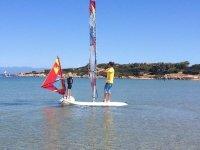 Lezione privata di mini-windsurf