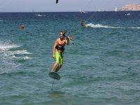 Kitesurf sul mare piatto di Porto Pollo