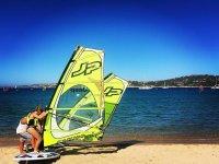 Impairing windsurfing in Sardegna