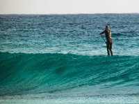 Paddle surf sulle onde