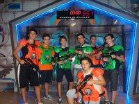 Giubetto e fucile laser