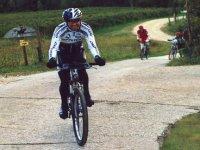 Pedaling in mountainbike