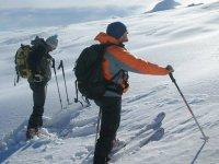 Off-piste skiing and ski touring
