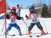 Everyone learns to ski