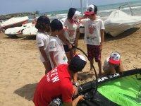 Preparando il windsurf
