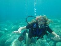 Durante un'immersione!