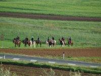 In campagna a cavallo