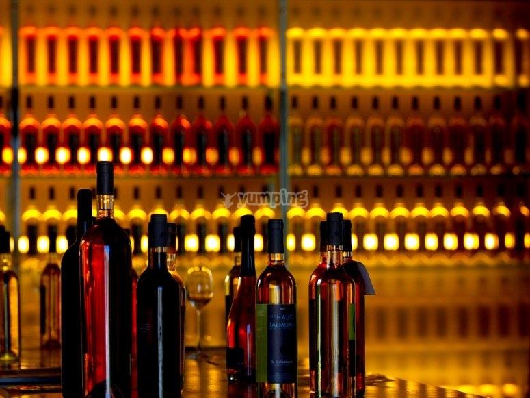 Degustazione di cibo e vini