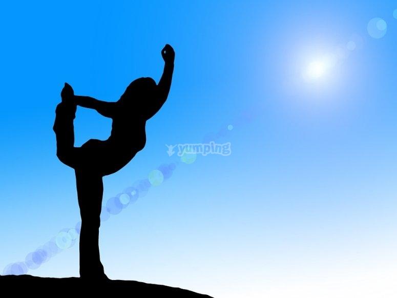 ... e una lezione di yoga!