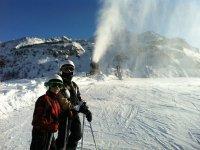 Una splendida giornata sugli sci